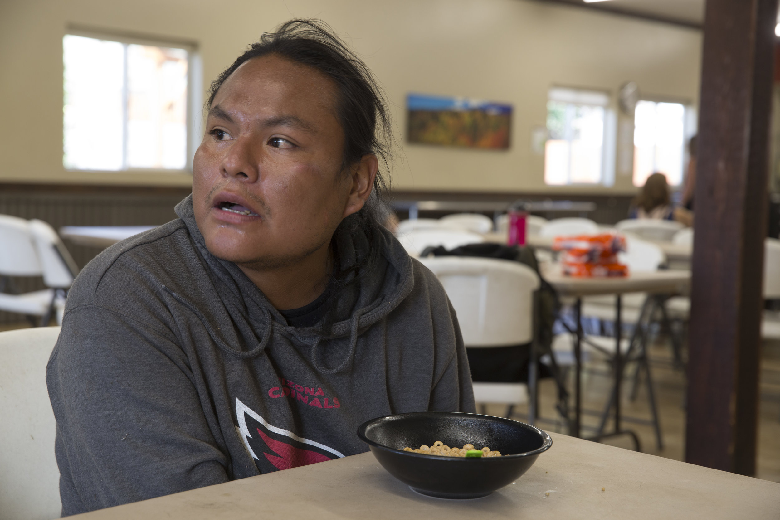 Shawn Agoodie came to Durango from the Navajo Nation in Arizona and hoped to enroll in a culinary arts program at Manna Soup Kitchen. (Scott DW Smith, Special to The Colorado Sun)
