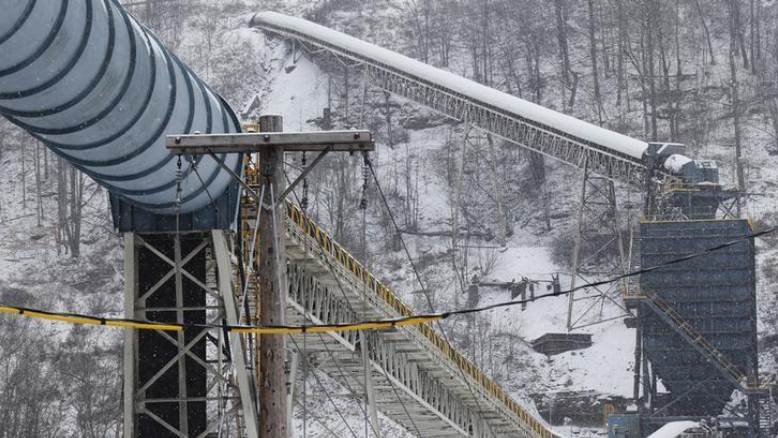 A load out line at the Century Mine carries cleaned coal to a transport area near Beallsville, Ohio, January 25, 2013. While cities such as Pittsburgh have recovered from the decline of coal and steel, rural areas such as the Ohio Valley have been largely left behind. REUTERS/Jason Cohn