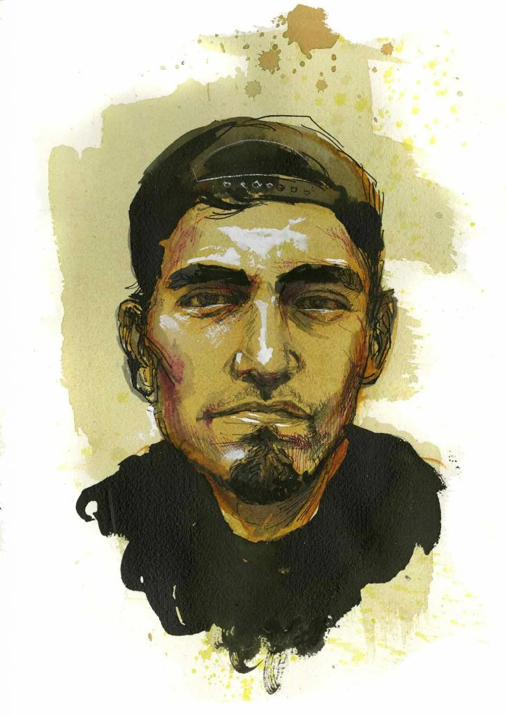 Paul Weiskel, Teamster, Boston. Illustration by Molly Crabapple