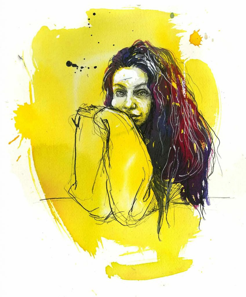 Ashley, pet store worker, New Jersey. Illustration by Molly Crabapple