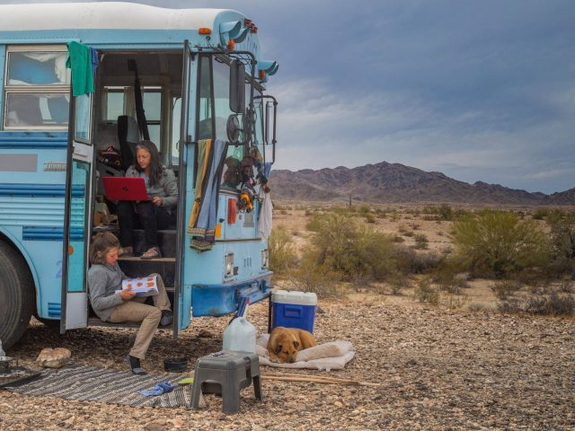 A Year in a School Bus- Amid COVID-19, A Family Finds Freedom Traveling the American West